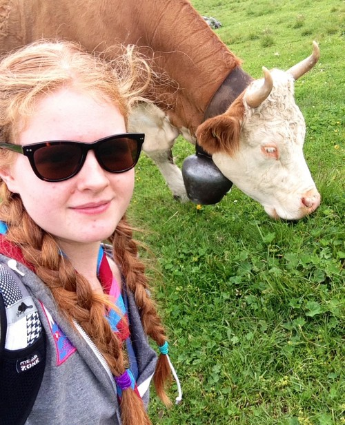 Holly cow selfie
