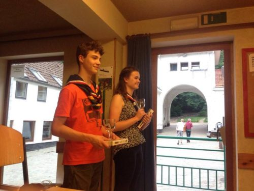 William and Catherine with their prizes!